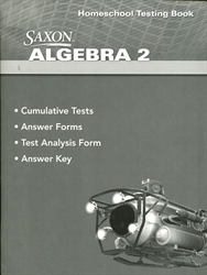 Saxon Algebra 2 - Homeschool Testing Book