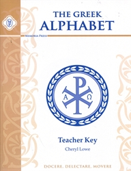 Greek Alphabet - Teacher Key