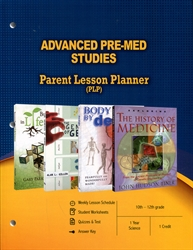 PLP: Advanced Pre-Med Studies - Parent Lesson Planner