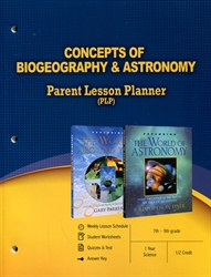 PLP: Concepts of Biogeography & Astronomy - Parent Lesson Planner