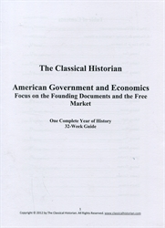 Classical Historian Government and Economics - 32-Week Guide
