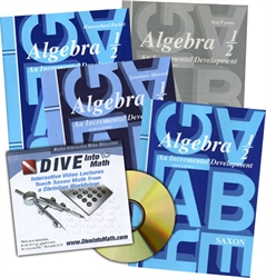 Saxon Algebra 1/2 - Home School Bundle with DIVE CD