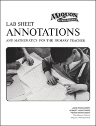 Miquon Lab Sheet Annotations and Mathematics for the Primary Teacher