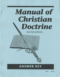 Manual of Christian Doctrine - Answer Key