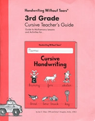 3rd Grade Cursive Teacher's Guide
