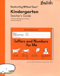 Handwriting Without Tears Kindergarten - Teacher's Guide