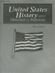 Heritage of Freedom - Quiz Key