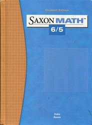 Saxon Math 6/5 - Student Textbook