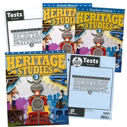 BJU Heritage Studies 3 - Home School Kit
