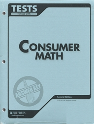 Consumer Math - Tests Answer Key