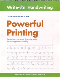 Write-On Handwriting: Powerful Printing (Left-Hand)