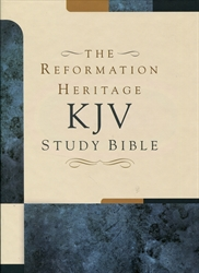 KJV Reformation Heritage Study Bible (Black Genuine Leather)