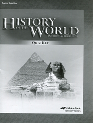 History of the World - Quiz Key