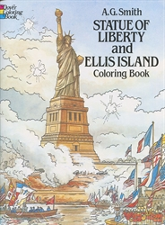 Statue of Liberty and Ellis Island - Coloring Book