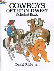 Cowboys of the Old West - Coloring Book