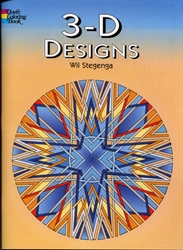 3-D Designs - Coloring Book