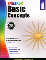 Spectrum Basic Concepts Preschool
