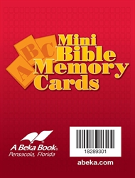 Miniature ABC Bible Memory Cards
