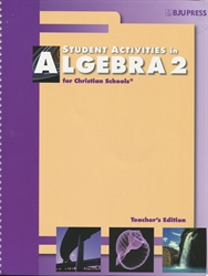 Algebra 2 - Student Activities Teacher Edition (old)