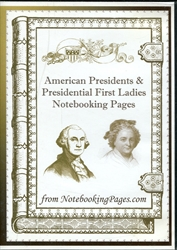 American Presidents & Presidential First Ladies Notebooking Pages