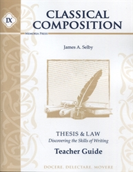 Classical Composition Book IX - Teacher Guide