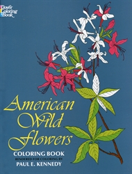 American Wild Flowers - Coloring Book