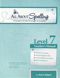 All About Spelling Level 7 - Teacher Manual