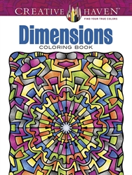 Creative Haven Dimensions - Coloring Book