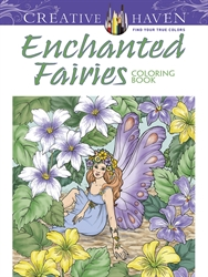 Creative Haven Enchanted Fairies - Coloring Book