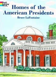 Homes of the American Presidents - Coloring Book
