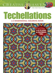 Creative Haven  3-D Techellations - Coloring Book