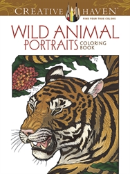 Creative Haven Wild Animal Portraits - Coloring Book