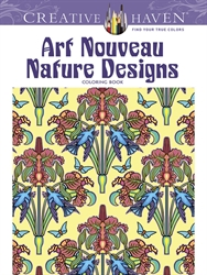 Creative Haven Art Nouveau Nature Designs - Coloring Book