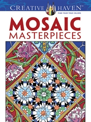 Creative Haven Mosaic Masterpieces - Coloring Books