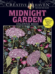 Creative Haven Midnight Garden - Coloring Book