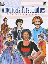 America's First Ladies - Coloring Book