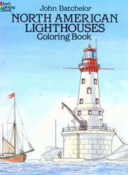 North American Lighthouses - Coloring Book