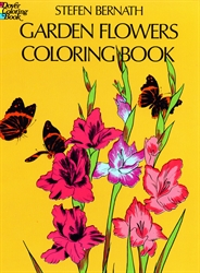 Garden Flowers - Coloring Book