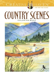 Creative Haven Country Scenes - Coloring Book