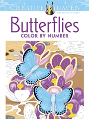 Creative Haven Butterflies - Color by Number