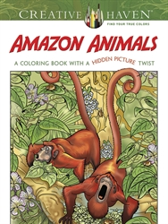 Creative Haven Amazon Animals - Coloring Book