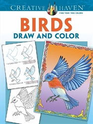 Creative Haven Birds - Draw and Color