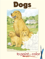 Dogs to Paint or Color - Coloring Book