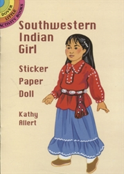 Southwestern Indian Girl Sticker Paper Doll - Activity Book