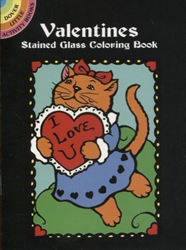 Valentines Stained Glass Coloring  - Activity Book