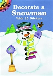Decorate a Snowman with 35 Stickers - Activity Book