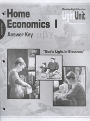 Home Economics 1 - LightUnit 101-105 Answer Key