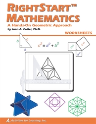RightStart Mathematics: A Hands-On Geometric Approach - Worksheets (old)