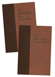 Word Study New Testament and Concordance - 2 Book Set