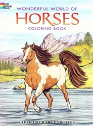 Wonderful World of Horses - Coloring Book